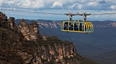 A view of the sky train at Katoomba in the magnificent Blue Mountains in NSW.  A couple of hours drive from Sydney or less by train.