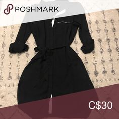 Shop Women's RW & co. Black size L Long Sleeve at a discounted price at Poshmark. Description: Black button up dress with white detailing under the buttons. Great used condition. Button Up Dress, Black Button, Dress Black, Rompers, Buttons, Long Sleeve, Sleeves, Closet, Things To Sell