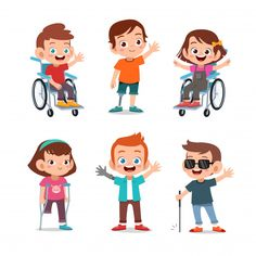 Kids disabled Premium Vector | Free Vector #Freepik #vector #freepeople #freekids #freewoman #freemedical