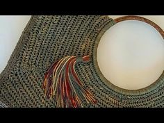 Crochet Cord, Bag Crochet, Crochet Handbags, Free Crochet, Crochet Flower Patterns, Crochet Flowers, Handmade Bags, Diy Bags, Bag Making
