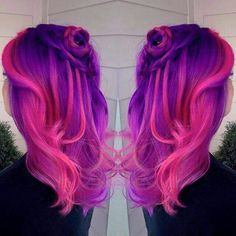 Hot pink and purple