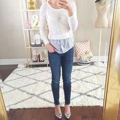 Layering with sweaters via Stylish Petite