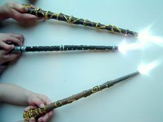 Making your own light up Harry Potter Wand! http://www.instructables.com/id/A-really-magic-Harry-Potter-wand-for-Lumos-and-Rev/?ALLSTEPS