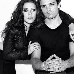 The Assassins. A really cool idea of how awesome they'd look together. (Scarlett Johansson and Sebastian Stan)