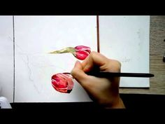 How to paint a tulip in watercolors - YouTube