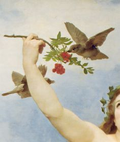 Day (detail) by William Adolphe Bouguereau (1825-1905) oil on canvas, 1884