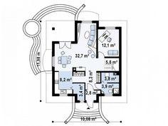 Niskoenergetska kuća od 156 oduševiće i one najzahtjevnije (FOTO) Close Image, Planer, Floor Plans, Diagram, House Design, How To Plan, Elegant, House Styles, Arrow Keys