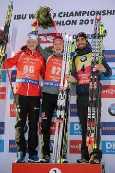 Martin Fourcade au championnat du monde de biathlon en 2017❤️