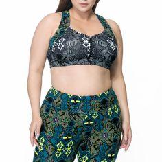 aab2239240 Bette Mix Print Bra – Rainbeau Curves - Plus Size Clothing and Activewear