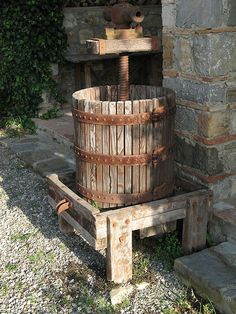 So vintage: a classic basket press from the archives. #winedesign #vintage #oldschool