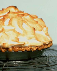 This whimsical pie sets the bar high for taste and appearance: It has a zesty lemon filling -- Martha's favorite -- a flaky pate brisee base, and a glossy Swiss meringue crown.