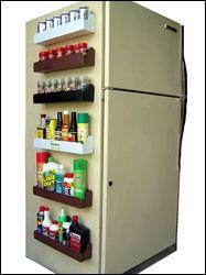 magnetic spice shelf to maximize kitchen storage