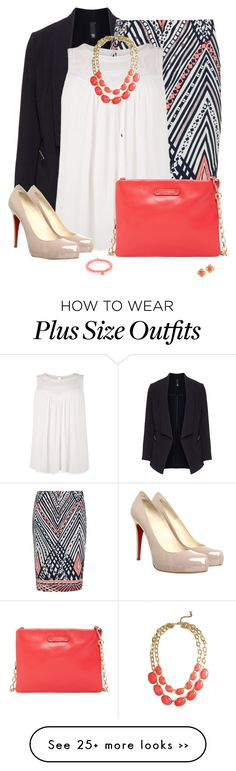 """Plus Sized Office Wear"" by jafashions on Polyvore featuring Manon Baptiste, Anna Scholz, Christian Louboutin, Jack French and Sydney Evan"