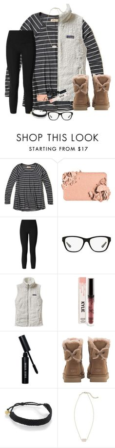 """Looking Cute Is A Competitive Sport"" by bowbeauty01 ❤ liked on Polyvore featuring Hollister Co., Too Faced Cosmetics, lululemon, Ralph Lauren, Patagonia, Bobbi Brown Cosmetics, UGG, Pura Vida, Kendra Scott and bowbeautiful"