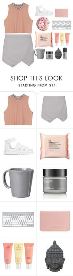 """Untitled #677"" by sherifagrier ❤ liked on Polyvore featuring Dr. Martens, The Body Shop, Vietri, Perricone MD, Coast, Molton Brown, Three Hands and Rococo"