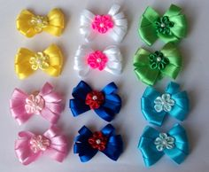 Pack of 12 Dog Hair Pixie Bows  A total of 6 pairs for St Patricks Easter Spring Summer 4th of July * Want to know more, click on the image.