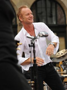 "Love Sting!  great photo cause you rarely catch him with a ""grin"""