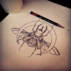 Bug tattoo design.