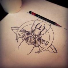 Bug tattoo design.