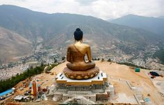 A statue of Lord Buddha at Kuensel Phodrang in Thimphu, Bhutan on May Tibet, The Forbidden Kingdom, Global Peace Index, Country Landscaping, What A Wonderful World, Capital City, Wonders Of The World, Places To Visit, Iceland