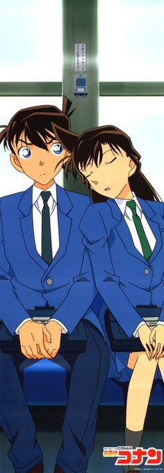 Meitantei Conan, Kudou Shinichi, Mouri Ran, Head on Shoulder