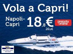 Vola a #Capri con NLG! #Napoli - #Capri ti costa solo 18,80 € http://www.navlib.it/