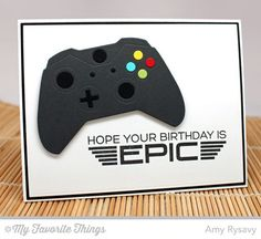 Level Up, Game Controller - Amy Rysavy #mftstamps