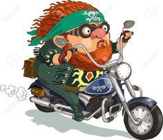 biker on motorcycle vector illustration - Google-søk