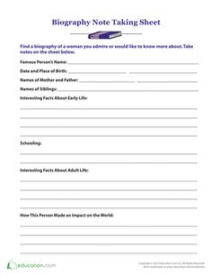 Biography Book Report For Elementary School   biography report     Education World My First Book Report Form