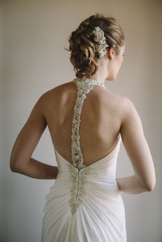 Ivory Wedding Dress, Detailed Back | Luna Bella | Pronovias | Miosa Bridal