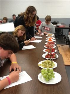 Organic vs. Non Organic...students did visual and taste analysis as well as predictions.