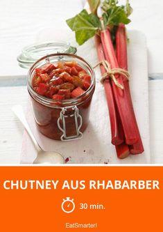 Chutney aus Rhabarber - kalorienarm - einfaches Gericht - So gesund ist das Rezept: 7,3/10   Eine Rezeptidee von EAT SMARTER   Obst #chutney #gesunderezepte