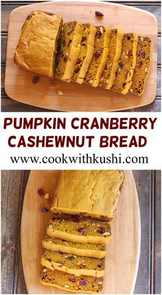 Pumpkin Cranberry Cashewnut Bread is a very soft and moist, flavorful and…