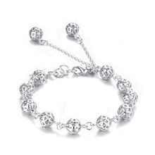 US $1.45 new arrive Beautiful bracelet noble top pretty fashion Wedding Party Silver cute fox lady nice Ball women bracelet jewelry. Aliexpress product