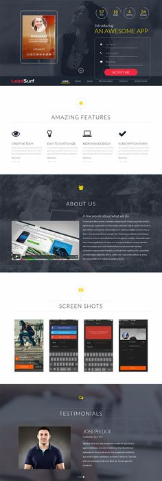 LeadSurf – A Lead Capture Landing Page WordPress Theme
