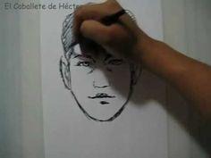 Dibujo - Retrato ( canon del rostro ) como centrar un rostro en una hoja...