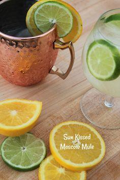 Sun Kissed Moscow Mule - Having Fun Saving & Cooking Sangria Recipes, Margarita Recipes, Cocktail Recipes, Wine Recipes, Wine Cocktails, Refreshing Cocktails, Summer Drinks, Fun Easy Recipes, Amazing Recipes