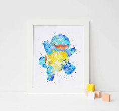 Pokemon Squirtle pokemon art pokemon poster pokemon printable pokemon print pokemon watercolor pokemon decor pokemon nursery pokemon artwork