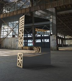 """Mirrored and Wooden Letters Sculptures  For the San Francisco Design Week, American studio Character imagined """"Look Closer"""" : handmade sculptures in wood and mirrors representing initials of this event. By placing them in industrial, urban and natural environments, they wanted to show that design is all around us and builds our world's structures."""