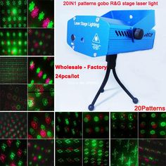 24pcs wholesale 20 patterns Red Green Laser projector Christmas Party DJ Lighting lights Disco bar Dance stage Light show XL94(China (Mainland))