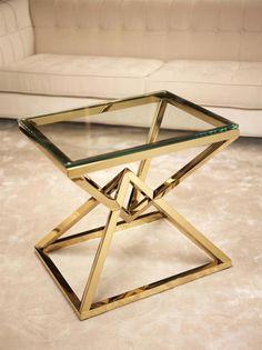 Eichholtz Connor End Table Color: Gold Steel Furniture, Unique Furniture, Rustic Furniture, Furniture Design, Furniture Stores, Furniture Market, Furniture Outlet, Fine Furniture, Cheap Furniture