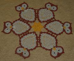 Ravelry: Crochet Owls Doily pattern by Valerie Fuller
