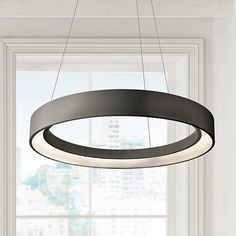 "Elan Fornello 23 1/2"" Wide Dimmable LED Black Pendant Light"