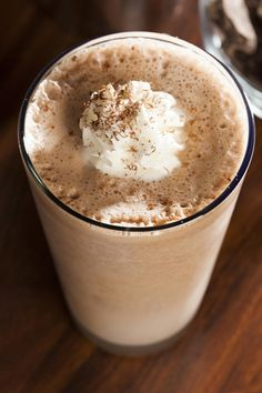 Frothy Chocolate Shake- creamy, cool, absolutely delicious. #healthychocolate #healthycoconut (Homemade Chocolate Milkshake)