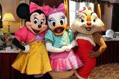 Minnie, Daisy and Clarice. Disneyland Paris.