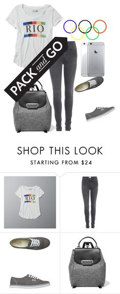 """Untitled #46"" by tenuunl on Polyvore featuring Abercrombie & Fitch, Acne Studios, Vans and ZAC Zac Posen"