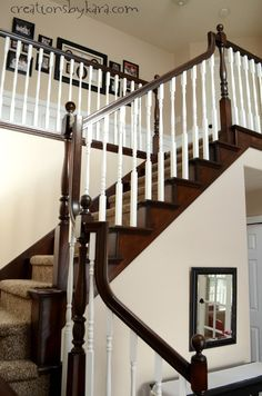 staircase ideas painted #stairs (carpet stairs)