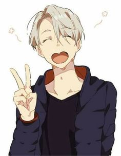 you are yuri best friend and you was an ice skater but then you left your dream to be a normal person of society. but yuri comes home from the ice skating tou. Anime Meme, Anime Guys, Manga Anime, Manga Tv, Yuri Plisetsky, Yuri On Ice, Kawaii, Victor Yuri, Otaku