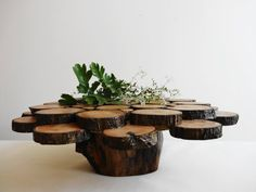 Rustic Cake Stand, Wedding Centerpiece, Wood Cake Stand, Cupcake Stand, Woodland Wedding Decoration via Etsy