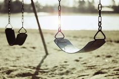 Swings. I can almost feel them moving in this picture!